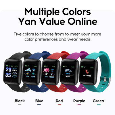 Good-Value Colorful 116 Plus Smart Watch Wristband Sports Fitness Blood Pressure Heart Rate Call Message Reminder Pedometer D13 Smart Watch Z2