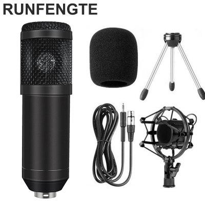 BM-800 Professional Studio Condenser Sound Recording Microphone + Plastic Shock Mount Kit for Braodcasting Singing KTV Karaoke Mic