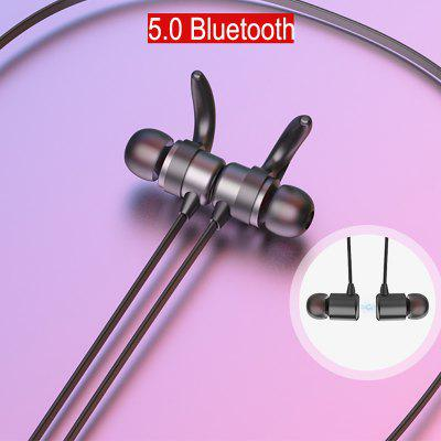 RUNFENGTE 5.0 Bluetooth Earphone Sports Neckband Magnetic Wireless Earphones Stereo Earbuds Music Metal Headphones With Mic For Phones