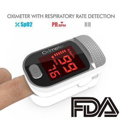 RUNFENTE Digital Finger Oximeter Blood Oxygen Saturation Measurement Portable Electronic LED Display Fingertip Pulse Oximeter
