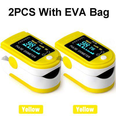 Oximeter Finger 2PCS Oximeter Finger Pulse Oximetry Monitor Refers To Pulse Oximeter Heart Rate Meter Monitor Blood Saturation Meter With EVA Bag veterinary fixation bag for small animals cat to patient monitor blood press monitor pets care free shipping