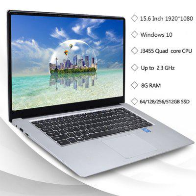KUU A8 15.6-inch FHD IPS Screen 8GB RAM Laptop CPU Intel Celeron J3455 Image