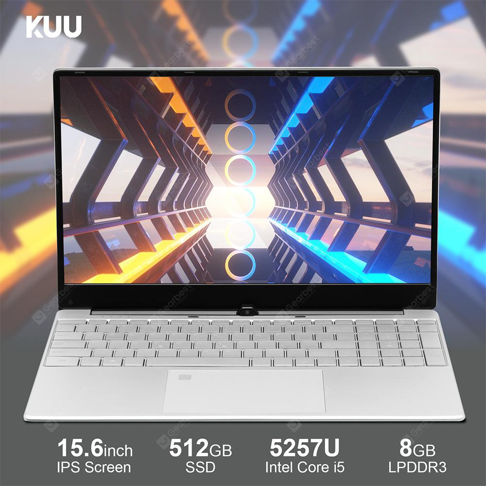 KUU K1 Laptop Intel Core i5 5257U Processor 15.6 Inch IPS Screen Office Notebook 8GB RAM Windows 10  256GB United States