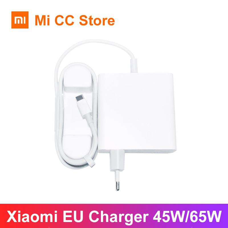 Xiaomi 65W Charger Type C Output EU Laptop Charger QC 4.0 Adapter USB C Port  White EU