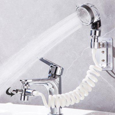 Bathroom Wash Face Basin Water Tap External Shower Head Toilet Hold Filter Flexible