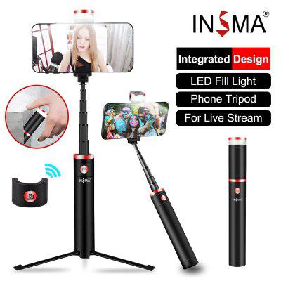 Bluetooth Selfie Stick  Dimmable Portable Phone Camera Tripod with LED Fill Ring Light Remote