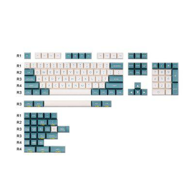 151 Keys Orignal Profile PBT Keycaps White Blue Pink Caps For Cherry Mechanical Keyboard