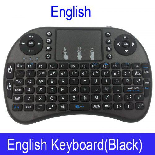 i8 Mini Wireless Keyboard 2.4GHz QWERTY Keyboard with Touchpad For Android TV Box Laptop - English Black Without Backlit