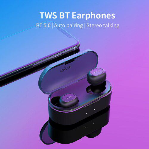 QCY T2C Mini Bluetooth Earphones with Mic Wireless Headphones Sports Earphones Noise Cancelling Headset