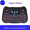 Mini tastiera wireless francese russo spagnolo Touchpad RGB retroilluminato 2.4G Fly Air Mouse