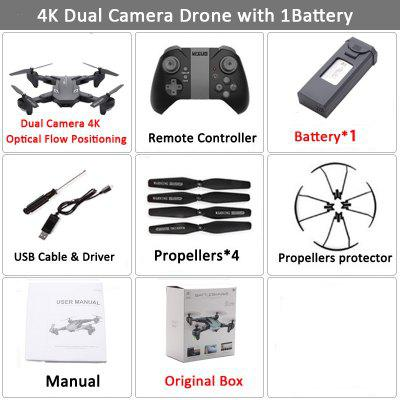 XS816 RC Drone with 50 Times Zoom WiFi FPV 4K Dual Camera Optical Flow Quadcopter Foldable Selfie Dron VS SG106 M70