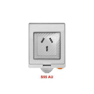 S55 Wi-Fi Smart IP55 Waterproof Design Socket for Android IOS for Google  Wifi Switch Home Wall Switch Smart Automation
