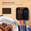 Digoo Probe Three Channels Smart Bluetoorh BBQ Meat Thermometer Kitchen Cooking BBQ Food Thermometer Stainless Steel DG-FT2303