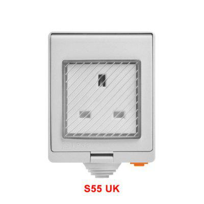 S55 Waterproof Wifi Smart Socket Switch UK/AU/US/FR/DE/ZA Multiple Version Wifi Socket Works With Alexa Google Home basic
