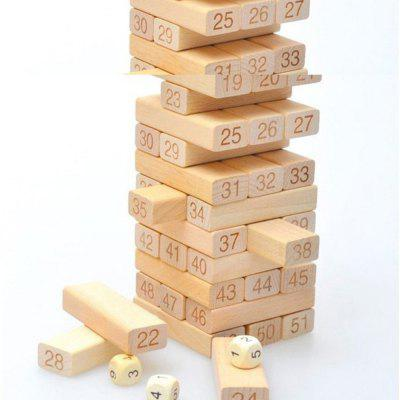 Fashion Adult Intelligence Small Digital Layer Stacking Log Blocks Stacked High Jenga Leisure Wooden Toys