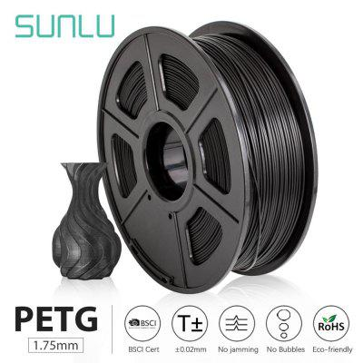 PETG 3D Printer Filament 1.75mm 1KG 2.2lbs Spool support defferent material 3D Printer Refill full color