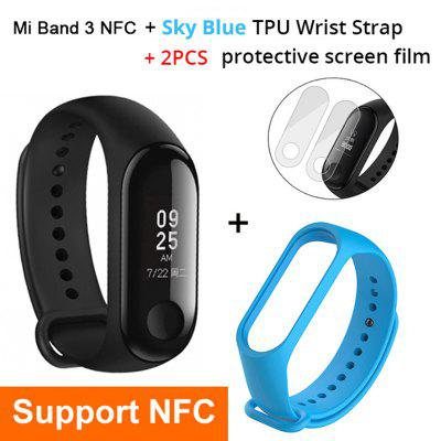 Mi Band 3 NFC Smart Bracelet Big Touch OLED Screen Fitness Message Heart Water Resistant CN Version Smartband