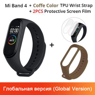 Mi Band 4 Original Music Smart Miband 4 Bracelet Heart Rate Fitness 135mAh Color Screen 50M Waterproof Bluetooth 5.0