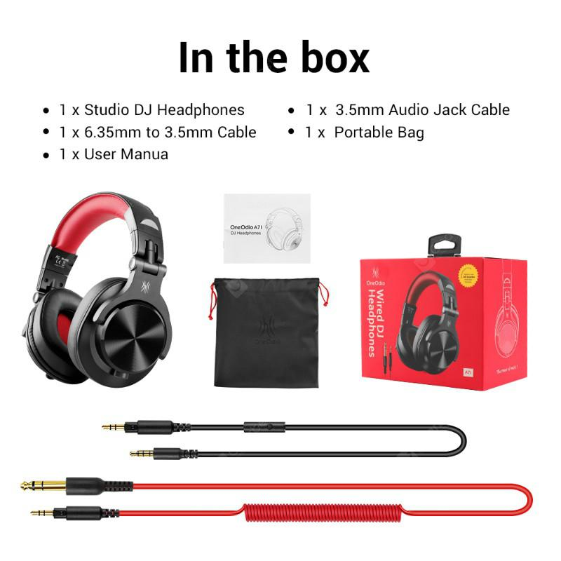 A71 Gaming Headset Studio DJ Headphones Stereo Over Ear Wired Headphone  With Microphone For PC PS4 Xbox One Gamer