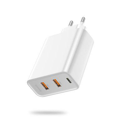 3 Ports USB Fast Charger 60W Support Quick Charge 4.0 3.0 Type-C PD Charger QC 4.0 3.0 Phone Charger ForHUAWEI ForXiaomi