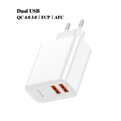 Dual USB Fast Charger 30W Support Quick Charge 4.0 3.0 Phone Charger Portable USB C PD Charger QC 4.0 3.0 ForXiaomi