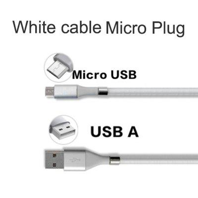 Quick 2.4A USB Charging date Cable line Self Winding Magnetic for Micro USB Type-C for Android xiaomi huawei Samsung tablet