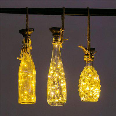 Solar  LED Cork Shaped 10 LED Night Fairy String Light Kork Wine Bottle Lamp Party Celebration