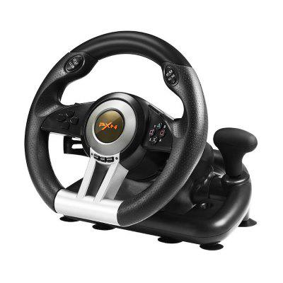 Racing Game Steering Wheel USB Vibration Dual Motor with Foldable Pedal for PS3 PS4 Xbox One Gaming Remote Controller