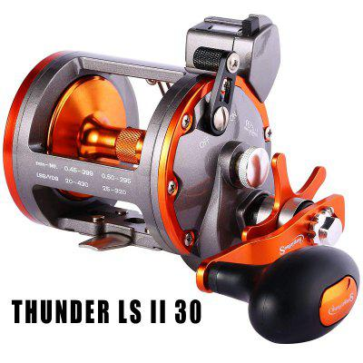Line Counter Trolling Reel Conventional Level Wind Cast Drum Fishing Reel 6+1BB with Digital Display