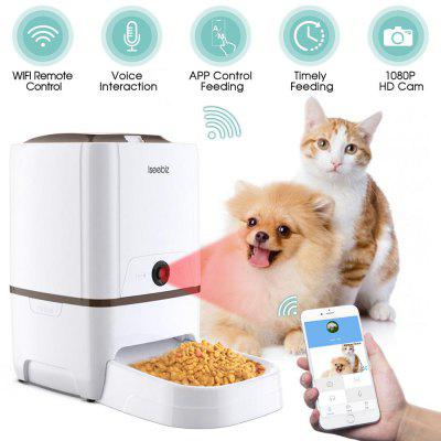 6L Automatic Pet Food Water Feeder With Voice Recording and LCD Screen Food Bowls For Dog Dispensers 4 times in 1 Day