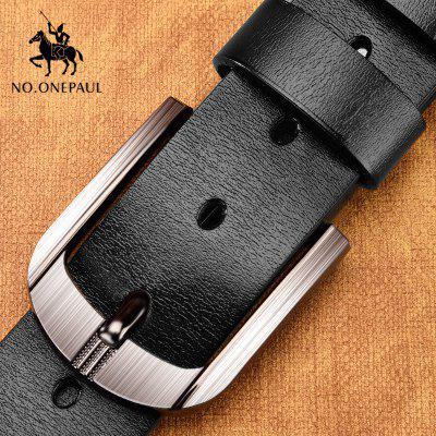 Genuine Leather For Men High Quality Black Buckle Jeans Belt Cowskin Casual Belts Business Cowboy waistband