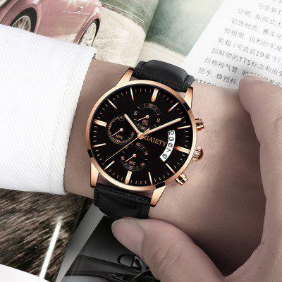 Relogio Masculino Watches Men Fashion Sport Stainless Steel Case Leather Band watch Quartz Business Wristwatch