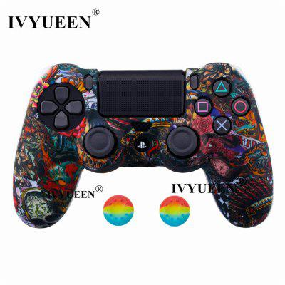 44 Colors Silicone Camo Protective Skin Case For Sony Dualshock 4 PS4 DS4 Pro Slim Controller Thumb Grips Joystick Caps