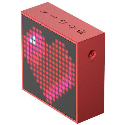 Timebox Evo Bluetooth Portable Speaker with Clock Alarm Programmable LED Display for Pixel Art Creation Unique gift