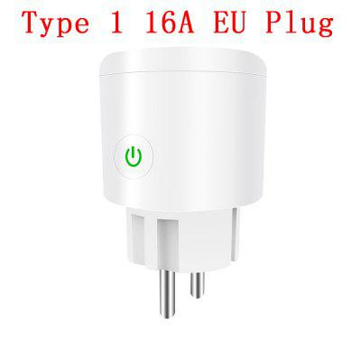 10A 16A EU WiFi Smart Plug with Power Monitor WiFi Wireless Smart Socket Outlet with Google Home Alexa Voice Control