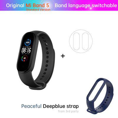 Mi Band 5 Smart Bracelet 4 Color AMOLED Screen Miband 5 Smartband Fitness Traker Bluetooth Sport Waterproof Smart Band