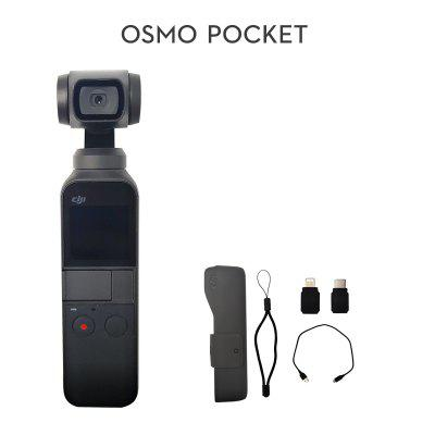 DJI Osmo Pocket 3-axis Stabilized Handheld Camera with Smartphone 4K 60fps Video Option Expansion Kit Micro SD Card In Stock
