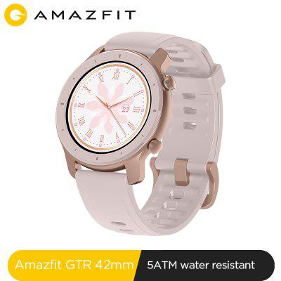 Global Version New Amazfit GTR 42mm Smart Watch 5ATM Womens Watches 12Days Battery Music Control For Android IOS