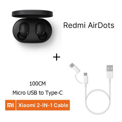 Redmi AirDots In Ear Bluetooth 5.0 Charging Earphone Wireless Bass Stereo Earphones With Mic Handsfree Earbuds AI Control