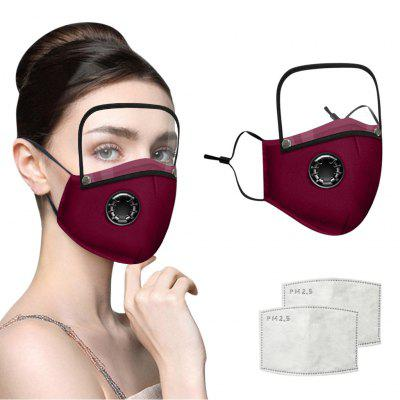 Scarf Mask For Face 2020Top Protective Cotton Mask Integrated With Goggles Mask With Breathing Valve Mascara Maschera