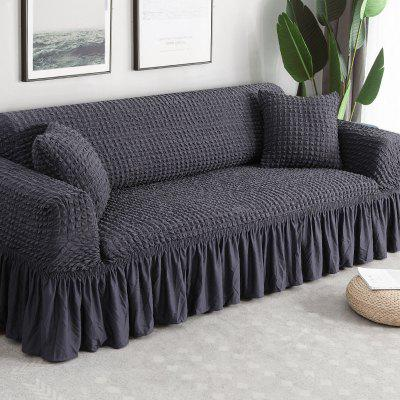 Solid Color Elastic Sofa Cover L shape 1-4-Seater For Living Room Printed Plaid Stretch Sectional Slipcovers Sofa Couch Cover
