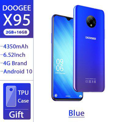 DOOGEE X95 Android 10 4G-LTE Cellphones 6.52 inch Display Smartphone MTK6737 2GB 16GB Dual SIM 13MP Camera 4350mAh Mobile Phone