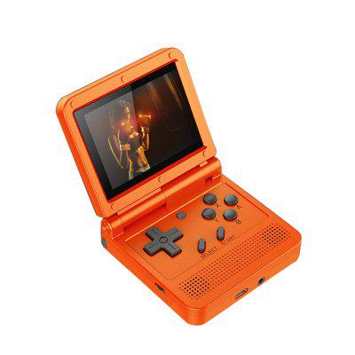 POWKIDDY V90 Flip Retro Game Console 3-inch IPS Screen Dual Open System Game Console PS1 Kids Gift