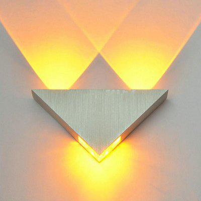 Modern Led Wall Lamp 3W Aluminum Body Triangle Wall Light for Bedroom Home Lighting Luminaire Bathroom Light Fixture Wall Sconce dimmable led vanity light fixture for bathroom black wall light lamp for mirror vintage bronze wall lamp sconce 8w 11w 15w