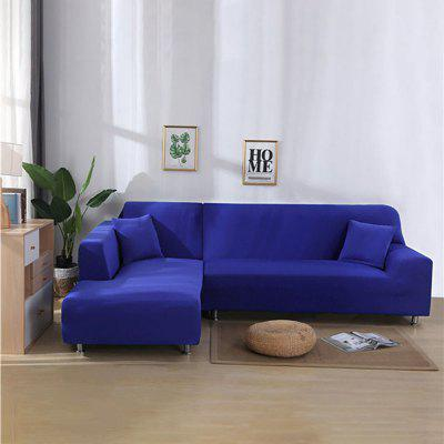 Solid Color Tight Wrap Elastic Sofa Cover Sofa Cover If L-style Sectional Corner Sofa