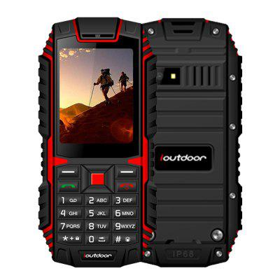 ioutdoor T1 2G Feature Mobile Phone Rugged IP68 Waterproof FM GSM SIM Card Led Flashlight 2MP Russian Keyboard Cellphone
