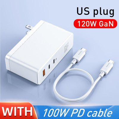 Baseus GaN Charger 120W PD Fast Charging USB C Charger QC4.0 QC3.0 Quick Charge USB Charger ForMacbook ForiP For Laptop Tablet