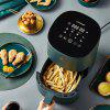 Smart Oil-free Air Fryer 1400W Power Pattern Food 2.5L Capacity Fat-free Timer Temperature for Home Kitchen Cooking