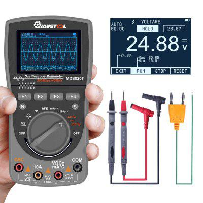 MDS8207 2 in 1 Intelligent Oscilloscope Newest Digital 40MHz 200Msps 6000Counts True RMS Multimeter