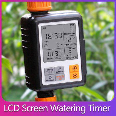 New Automatic Watering Timer Electronic Big LCD Screen Sprinkler Water Waterproof Garden Hose Irrigation System Controller